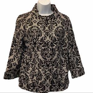 Talbots  Black & White Jacket Blazer. Size 8